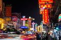 BANGKOK - DECEMBER 29: The China Town of thailand on Yaowarat Ro Royalty Free Stock Photo