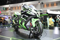 BANGKOK - December 11 : Kawasaki ninja motorcycle on display at