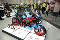 Bangkok december motorcycle with murazaki modify set on d display at the motor expo in thailand Royalty Free Stock Photo
