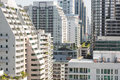 Bangkok density clode up of an high residential area along sukhumvit road the heart of modern Royalty Free Stock Image