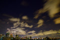 Bangkok downtown night under the clouds thailand bangko thailandk Stock Photography