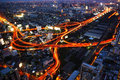 Bangkok expressway and highway top view thailand Stock Images