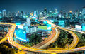 Bangkok high angle view at twilight Royalty Free Stock Photography
