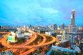Bangkok Highway at Dusk Royalty Free Stock Photo