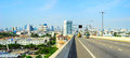 Bangkok highway panoramic view of with thailand Royalty Free Stock Image