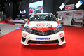 Bangkok june toyota altis with modify set with trd car on display at international auto salon in thailand Stock Images