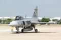 Bangkok märz team und luftwaffen flugschau breitling jet team under the royal sky breitling rayal thailändische bei donmueang Lizenzfreies Stockbild