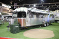 Bangkok march airstream classic car on display at the th international motor show in thailand Royalty Free Stock Images