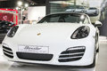 Bangkok march all new white porsche gt at the th bangkok international motor show concept beauty in the drive on march Royalty Free Stock Photos