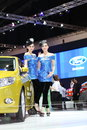 Bangkok march ford car with unidentified model on display at the th bangkok international motor show on march in thailand Stock Image