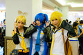 Bangkok march unidentified japanese anime cosplay pose comic party th march central plaza ramindra bangkok thailand Stock Images