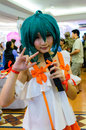Bangkok march unidentified japanese anime cosplay pose comic party th march central plaza ramindra bangkok thailand Stock Image