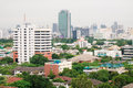 Bangkok metropolis aerial view over the biggest city in thailand Royalty Free Stock Image