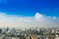 Bangkok Metropolis, aerial view over the biggest city