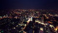 Bangkok by night the view from the tallest building in view of from a height Royalty Free Stock Images
