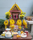 Bangkok, religious spirit house Royalty Free Stock Image