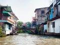 Bangkok river canal boondocks Royalty Free Stock Photo