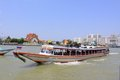 Bangkok Riverside Scene And Tourism Boat Royalty Free Stock Photo