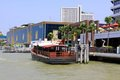 Bangkok Riverside Scene And Tourism Boat Stock Photography