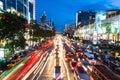Bangkok rush hour at night Royalty Free Stock Photo