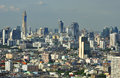 Bangkok it s the cityscape photo of in the tall buildings are a lot than before Royalty Free Stock Images