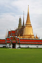 Bangkok s most famous landmark was built the palace conclud several impressive buildings including wat phra kaeo Royalty Free Stock Image