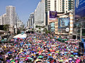 Bangkok shutdown 2013 Royalty Free Stock Photos