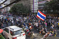 Bangkok shutdown jan thailand anti government protesters at rajavithi road nearby the victory monument on afternoon during the Stock Photo