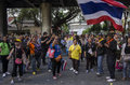 Bangkok shutdown jan thailand anti government protesters at the royal thai police headquarters rama i road nearby the central Royalty Free Stock Images