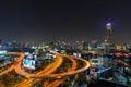 Bangkok skyline at dusk Royalty Free Stock Photo