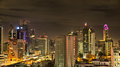 Bangkok skyline at night in hdr, editorial Stock Photography