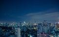 Bangkok skyline at night panorama