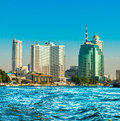 Bangkok skyline thailand on the chao pray river Stock Image
