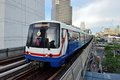 Bangkok skytrain bts in national stadium station Royalty Free Stock Images