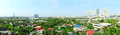 Bangkok suburb panoramic view thailand Stock Photos