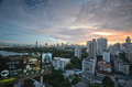 Bangkok sunset modern buildings in thailand Royalty Free Stock Photos
