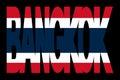 Bangkok text with Thai flag Stock Images