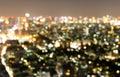 Bangkok Thailand abstract urban night light bokeh defocused Royalty Free Stock Photo