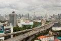 Bangkok thailand aug city view from the building can see si rat expressway sector a on rama iv road bangkok thailand Royalty Free Stock Photo