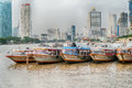 Bangkok, Thailand - August 5th 2017: Hotels, river Chao Praya an