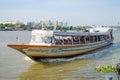 Bangkok thailand chao praya river ferry boat Lizenzfreie Stockbilder