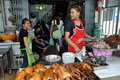 Bangkok,Thailand: Chinatown Food Seller Royalty Free Stock Photos