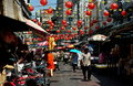 Bangkok, Thailand: Chinatown Street Scene Royalty Free Stock Photos