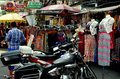 Bangkok, Thailand: Clothing on Khao San Road Stock Photo