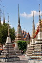 Bangkok, Thailand: Decorative Wat Po Chedis Royalty Free Stock Images