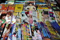Bangkok, Thailand: Display of Thai Magazines Royalty Free Stock Image