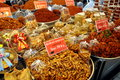 Bangkok thailand dried thai foods at market many variaties of are displayed the or tor kor in Stock Photos
