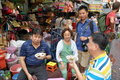 Bangkok, Thailand: Eating in Chinatown Stock Photos