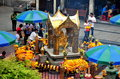 Bangkok, Thailand: The Erawan Shrine Stock Photo