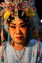 Bangkok thailand feb close up face of unidentified woman mak make her for playing chinese opera at yaowarat china town in Stock Photos